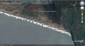 Kawasan wisata Parangtritis (google earth)